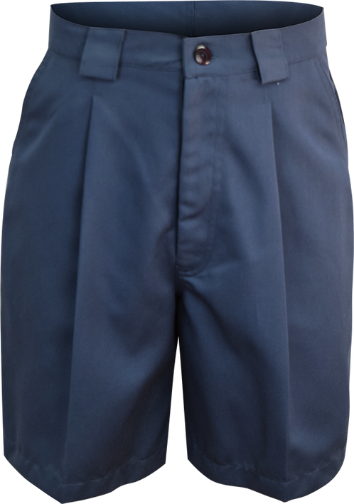Ladies Single Pleat School Shorts Front View