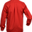 Red long sleeve shirt back view