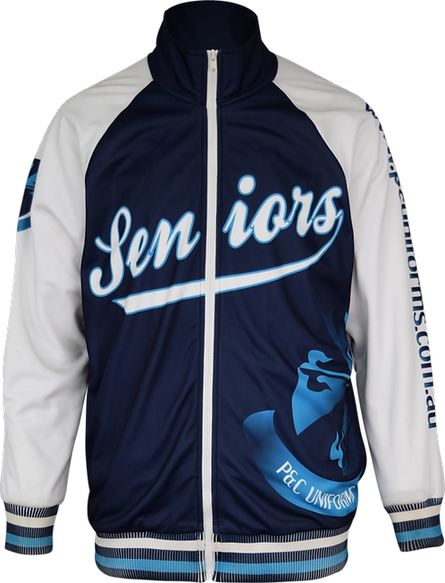 Sublimated Seniors School Jacket Front View