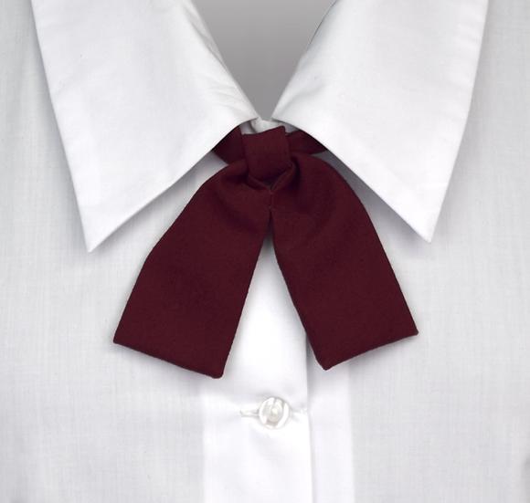 School Girls Button-On Tie Maroon