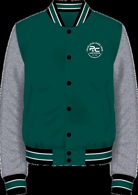 School Winter Fleece Varsity Jacket Front View