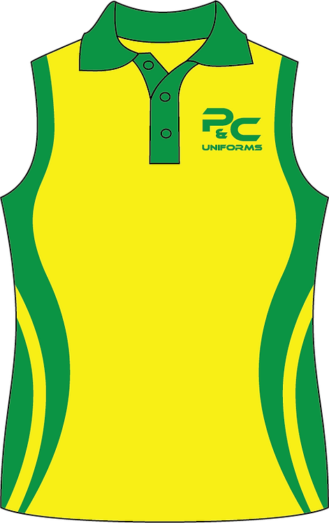 Sublimated Teamwear Netball Singlet Front View