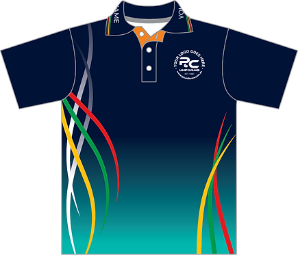 Sublimated Sports House Polo Front View