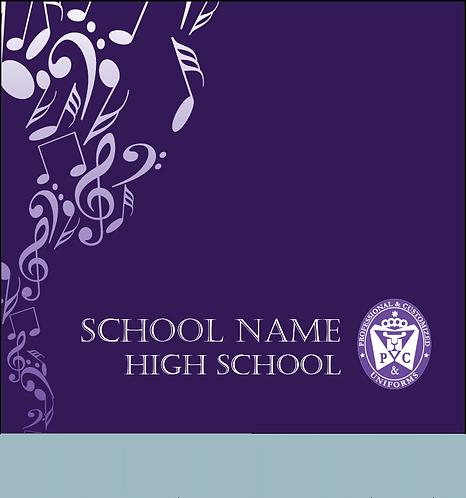 School Sublimated Music Banner Design