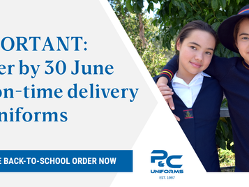 IMPORTANT: Place your Back-To-School order by June 30 for on-time delivery