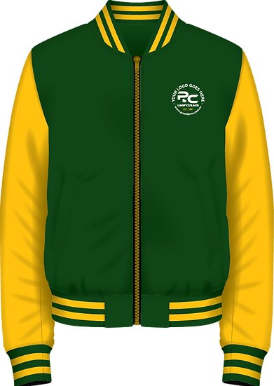 School Winter Fleece Bomber Zip Jacket Front View