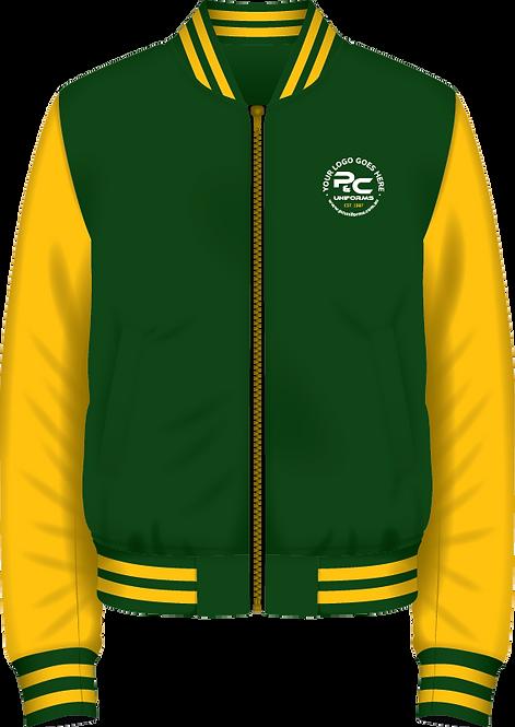School Winter Fleece Bomber Zip Jacket Front View