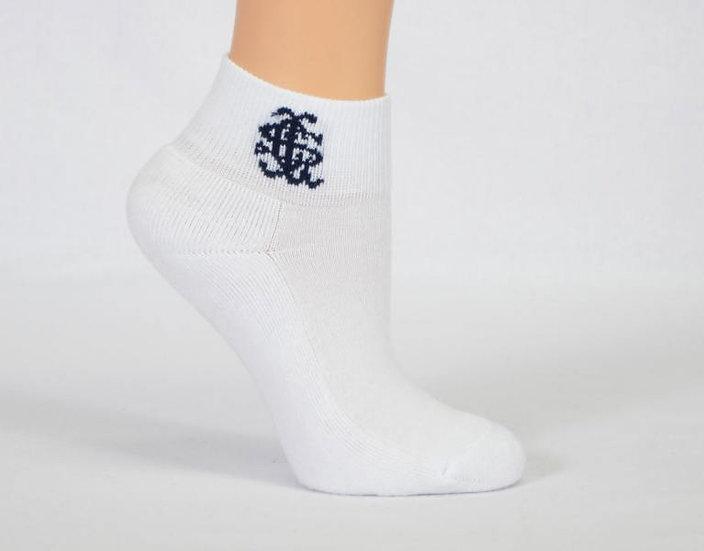 half terry school sock branded side view