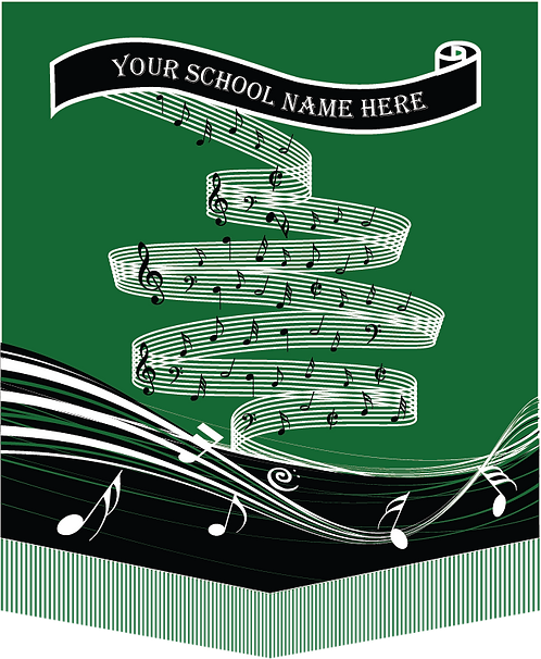 School Sublimated Music Banner Design