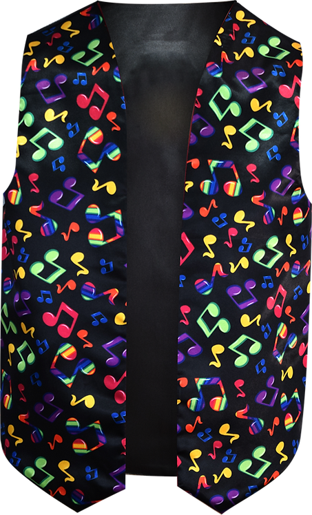 Sublimated Music Vest Front View