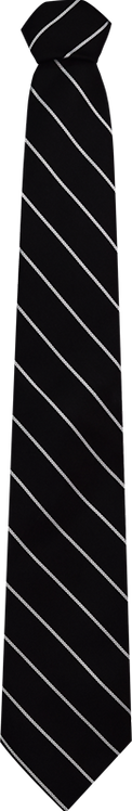 School Boys black tie white stripe