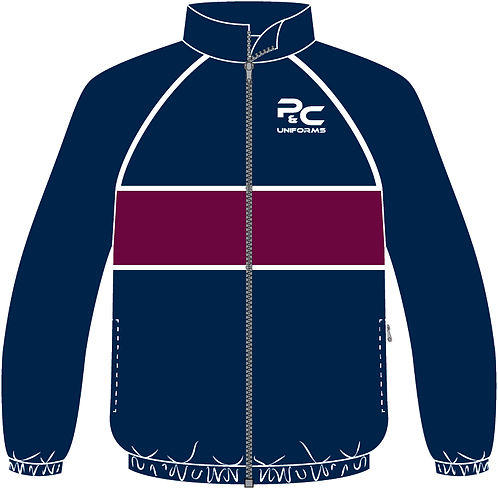 Sublimated Sport Jacket Front View navy maroon