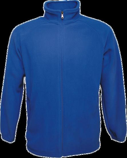 Polar fleece zip jacket blue front view