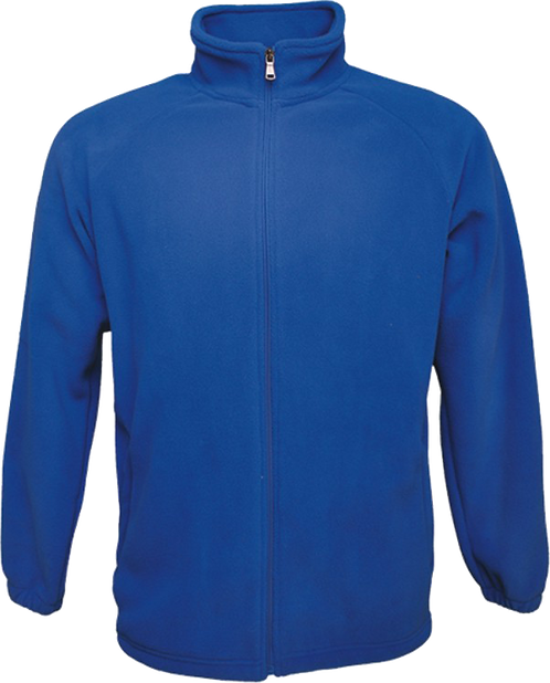 Polar fleece zip jacket blue front view