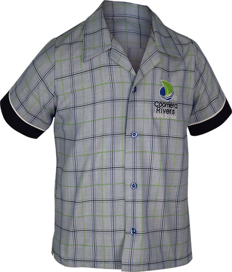 School Shirt Front View