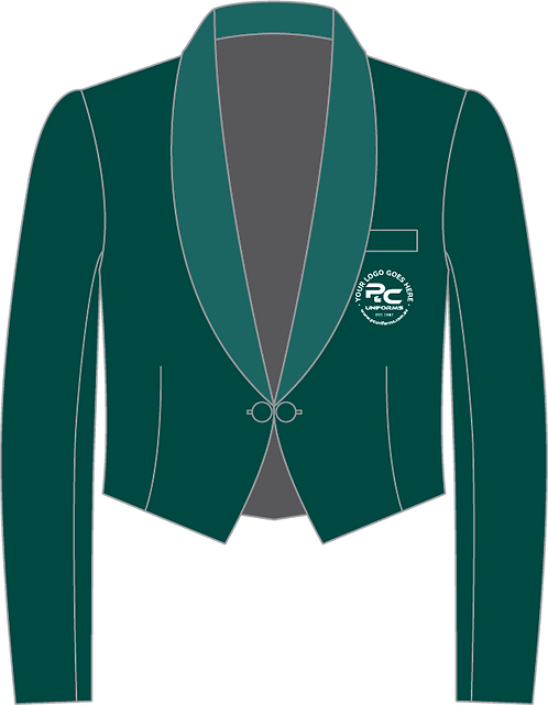 Green Eton Jacket Front View