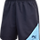 School Unisex Sports Short with sublimated insert Front View