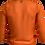 Tie Front Sheer Top Orange Back View