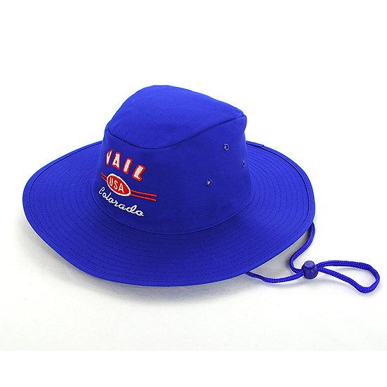 School slouch hat royal blue