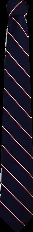 School Boys navy tie thin stripe