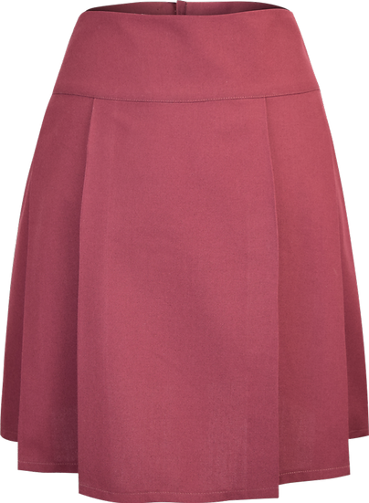 Front Pleated School Skirt Front View