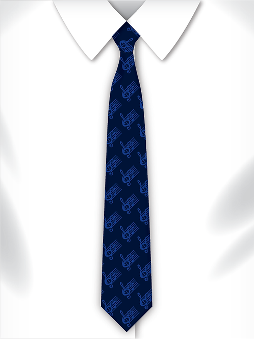 Sublimated School Music Tie Design