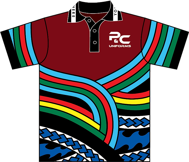 Sublimated School Senior School Polo Front View
