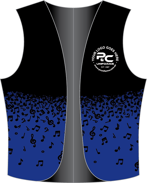 Sublimated School Music Vest Front View