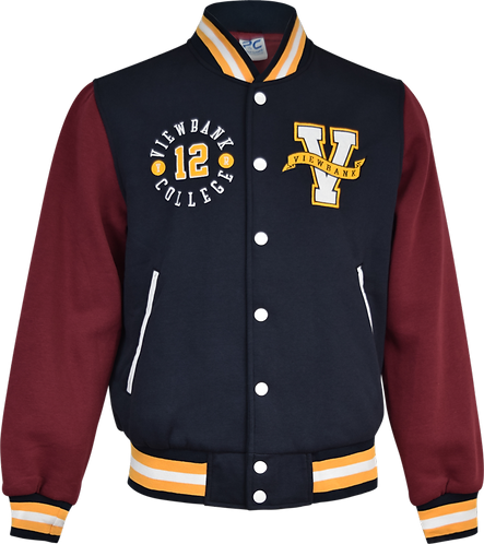 Varsity College Jacket Front View