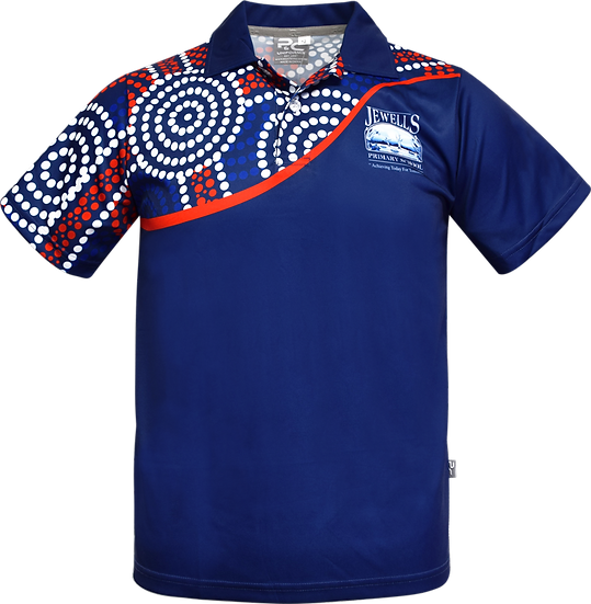 Sublimated School Indigenous Aboriginal Polo Front View