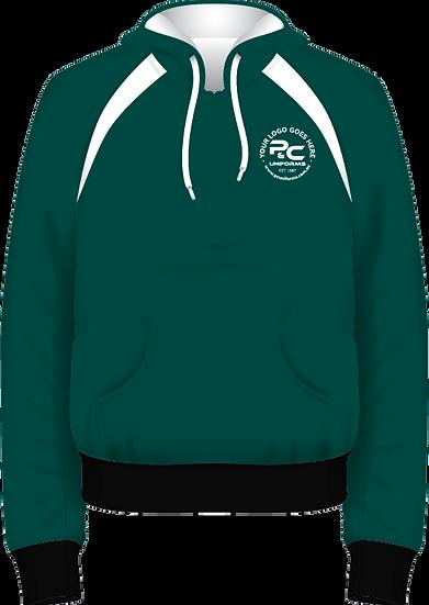 School Winter Fleece Hoodie Pullover Jumper Front View