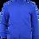 Fleece zip jacket blue front view