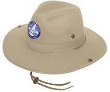 Wide Brim Canvas Hat Front View