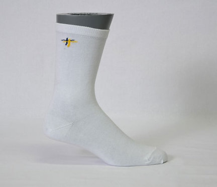 school sock branded side view