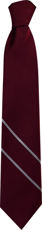 School Boys maroon tie double stripe