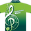 Sublimated Music Polo Rear View