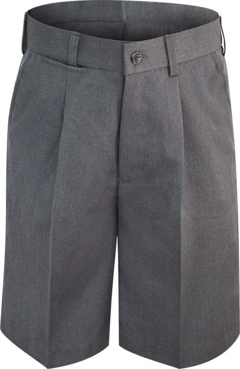 College School Shorts Single Pleat Front View