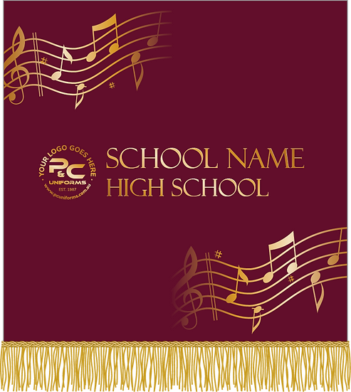 School Sublimated Music Stand Banner Design