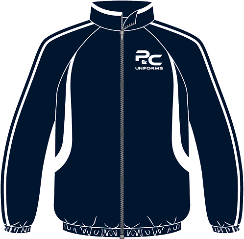 Sublimated Sport Jacket Front View navy white