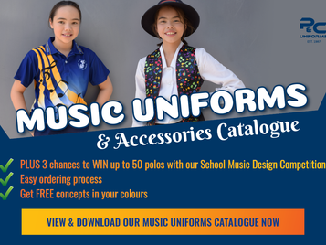 New Music Catalogue + WIN 50 music polos for your school!