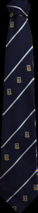 School Boys navy tie triple stripe