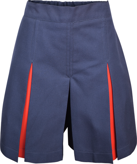 Inverted Pleat School Culotte Front View