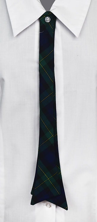 School Girls Button-On Tie Check Pattern