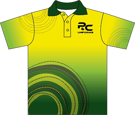 Sublimated Aboriginal Indigenous School Polo Front View