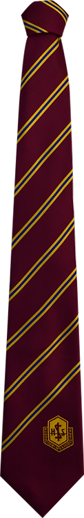 School Boys red tie blue and yellow stripe
