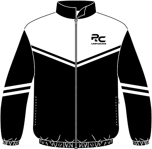 Sublimated Sport Jacket Front View black white