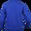 Fleece zip jacket blue back view