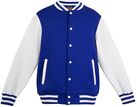 School Fleece College Jacket Front View