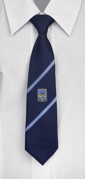 School Girls Tie Navy Blue Stripe