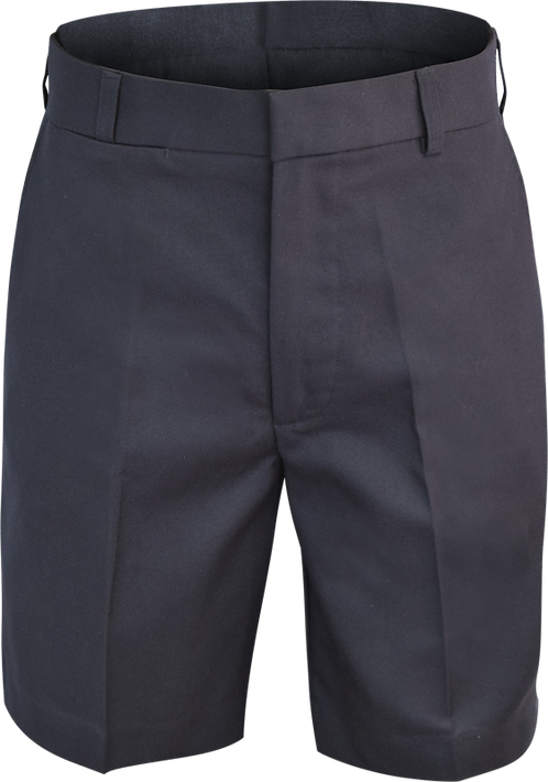Flat Front College Shorts Front View